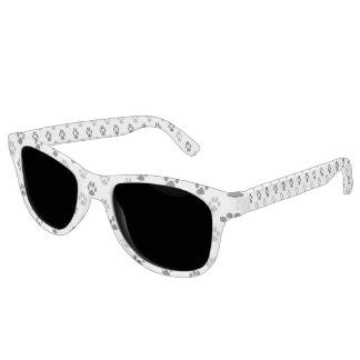 Gafas De Sol La pata blanco y negro linda imprime el modelo