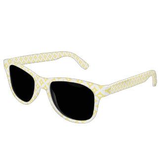 Gafas De Sol Modelo de lunares amarillo y blanco moderno del