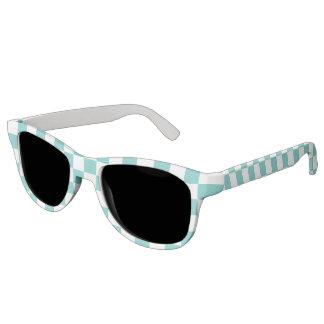 Gafas De Sol Modelo del tablero de damas de la aguamarina