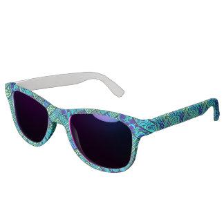 Gafas De Sol Modelo tribal abstracto azulverde de Boho