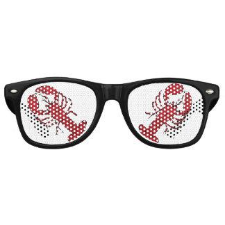 Gafas de sol negras rojas retras del Rockabilly de