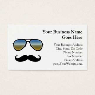 Gafas de sol retras divertidas con el bigote tarjeta de negocios