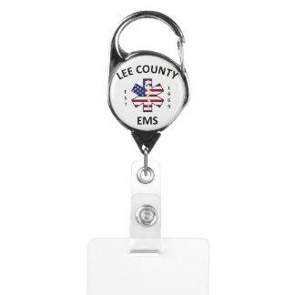 Gafete Carrete de la insignia del condado de Lee el ccsme