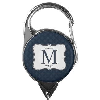 Gafete Modelo azul marino - el monograma de los hombres