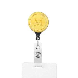 Gafete Monograma de oro adorable