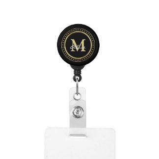 Gafete Oro negro con monograma
