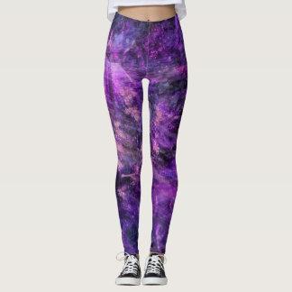 Galáctico púrpura leggings
