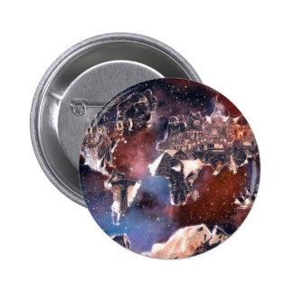 galaxia 4 del mapa del mundo chapa redonda de 5 cm