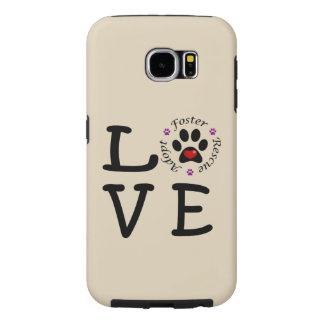 Galaxia animal S6 de Samsung del amor del rescate Funda Samsung Galaxy S6