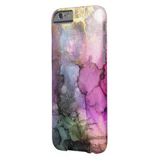 Galaxia - arte abstracto de la tinta funda barely there iPhone 6