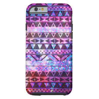 Galaxia azteca femenina de la nebulosa del trullo funda para iPhone 6 tough