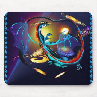 Galaxia azul Dragon_Mousepad Alfombrilla De Ratón