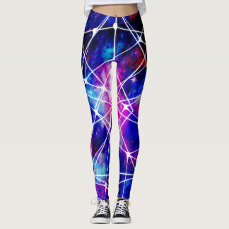 Galaxia azul marino leggings