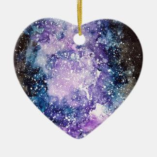 Galaxia cósmica adorno de cerámica