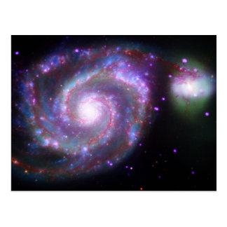 Galaxia de M51 Whirlpool: Una belleza clásica Postal