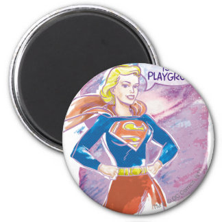 Galaxia de Supergirl Imán Redondo 5 Cm