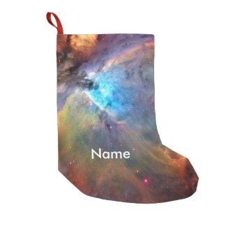 Galaxia del espacio de la nebulosa de Orión Calcetín De Navidad Pequeño