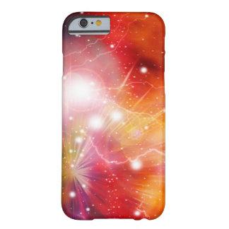 Galaxia del fuego de la nebulosa en espacio funda de iPhone 6 barely there