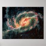Galaxia espiral barrada poster