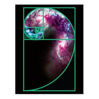 Galaxia espiral de Fibonacci Postal