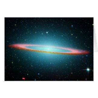 Galaxia espiral NGC 4594 del sombrero Tarjeta De Felicitación