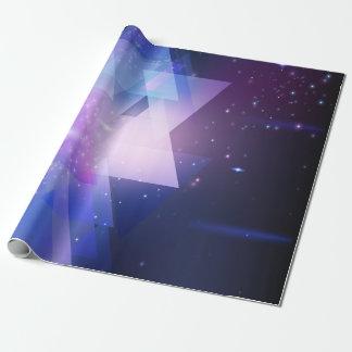 Galaxia gráfica que envuelve el papel del regalo