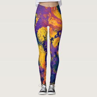 Galaxia púrpura II Leggings