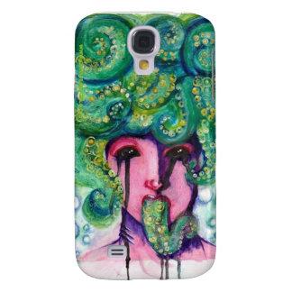 Galaxia S4 del caso del chica del calamar Carcasa Para Galaxy S4
