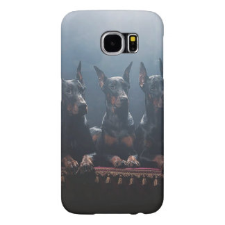 Galaxia S6, Barely There de Samsung del Doberman Funda Samsung Galaxy S6