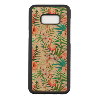 Galaxia tropical S8 de Samsung+ Caja de madera de Funda Para Samsung Galaxy S8+ De Carved