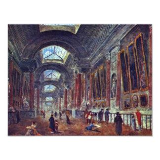 Galería de arte del detalle del Louvre de Roberto Invitación 10,8 X 13,9 Cm