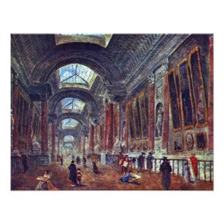 Galería de arte del detalle del Louvre de Roberto Invitacion Personal