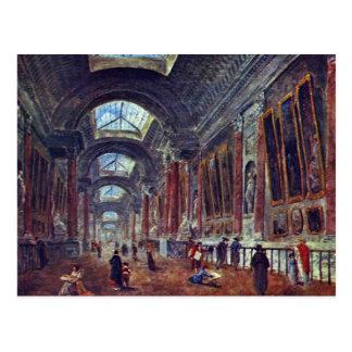 Galería de arte del detalle del Louvre de Roberto  Postal