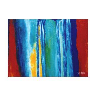 Galería de la cascada envuelta impresión en lienzo