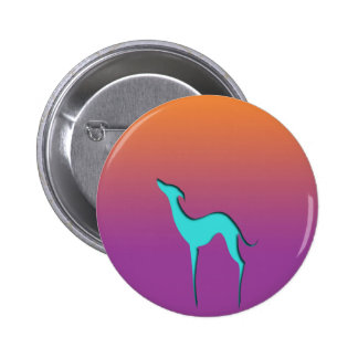 Galgo/botón violeta anaranjado azul de Whippet Pin