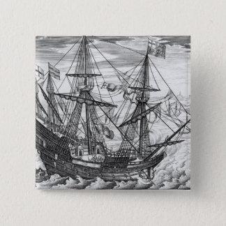 Galleon de la reina Elizabeth Chapa Cuadrada