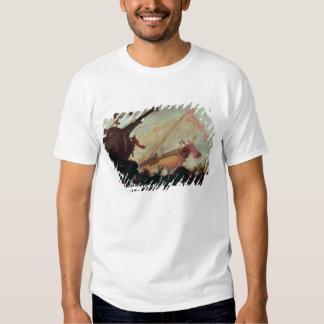 Galleons arruinó en una orilla rocosa camisetas