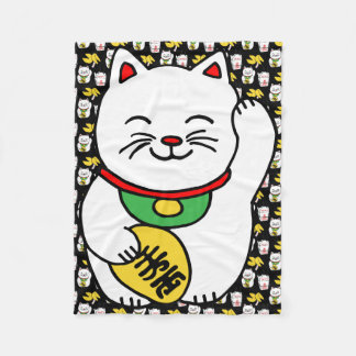 Galleta de la suerte del gato afortunado japonés manta polar