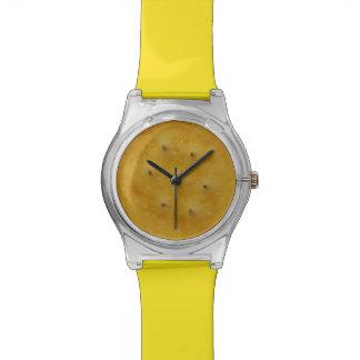 Galleta del bocado reloj de pulsera