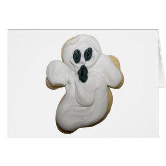 Galleta del fantasma de Halloween Felicitaciones