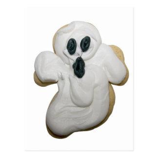 Galleta del fantasma de Halloween Postal