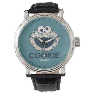 Galleta del monstruo el   de la galleta desde 1969 reloj de pulsera