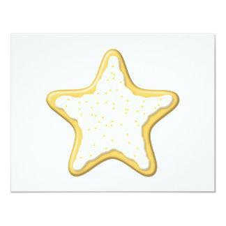 Galleta helada de la estrella. Amarillo y blanco Comunicados