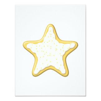 Galleta helada de la estrella. Amarillo y blanco Anuncio