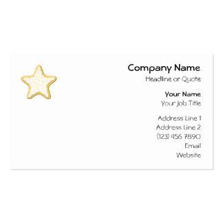 Galleta helada de la estrella Amarillo y blanco Tarjetas De Visita