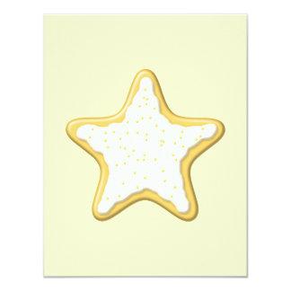 Galleta helada de la estrella. Amarillo y crema Comunicados