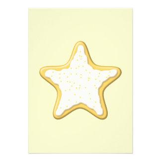 Galleta helada de la estrella Amarillo y crema