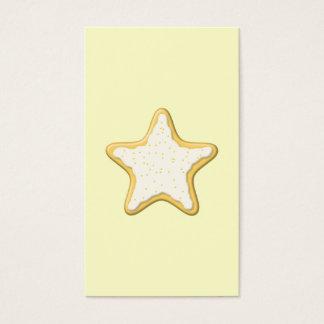 Galleta helada de la estrella. Amarillo y crema Tarjeta De Negocios