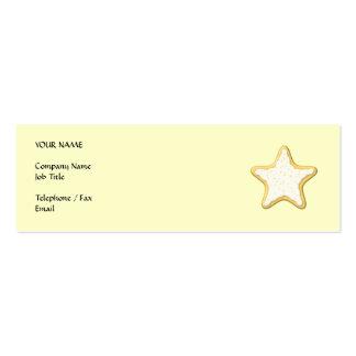 Galleta helada de la estrella. Amarillo y crema Tarjetas De Visita Mini
