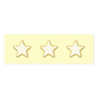 Galleta helada de la estrella. Amarillo y crema Tarjetas De Negocios
